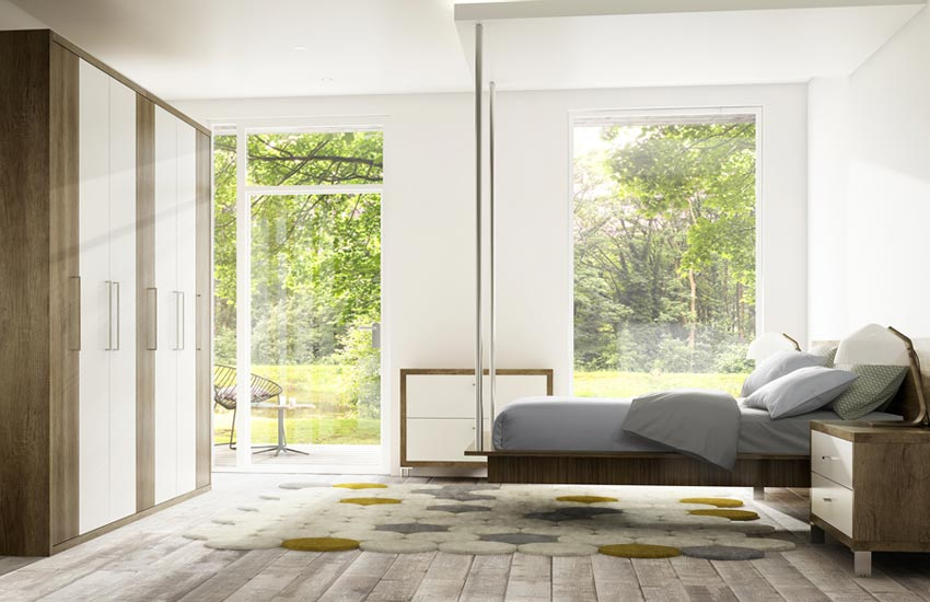 Bespoke bedroom with floating bed