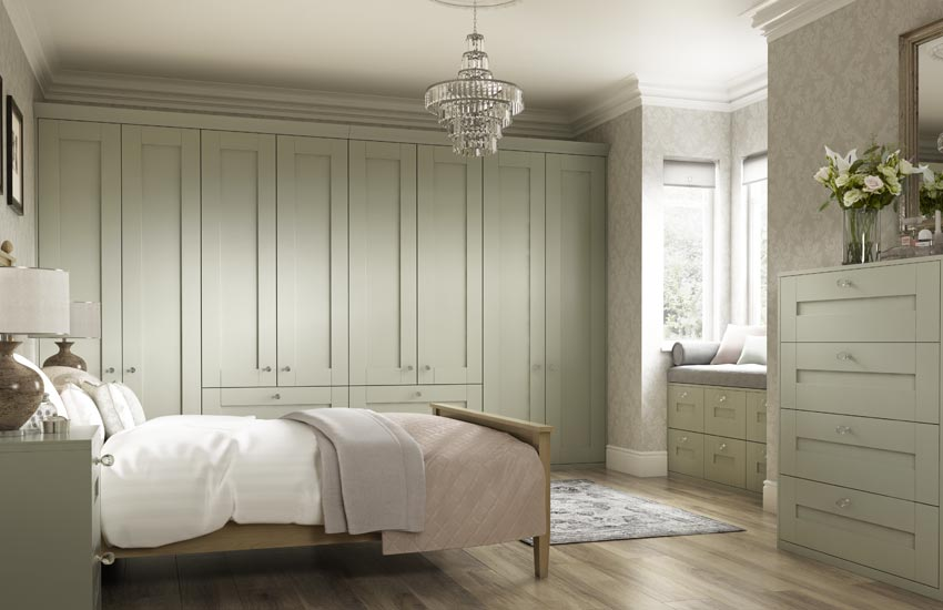 sage country bedroom