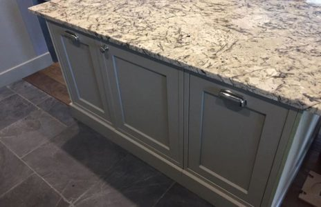 bespoke kitchen with marble worktops