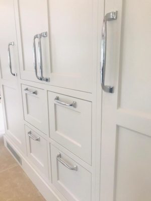 white wood fitted kitchen cabinets