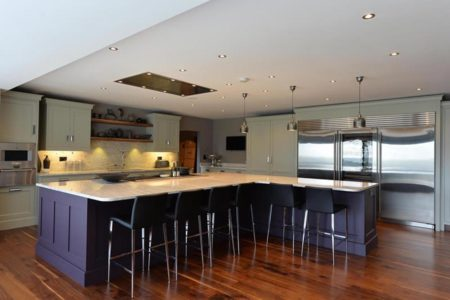 kitchen diner with large island