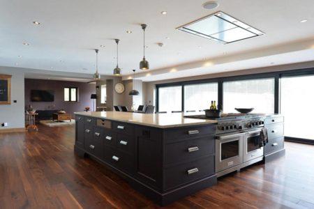 kitchen diner with wood flooring