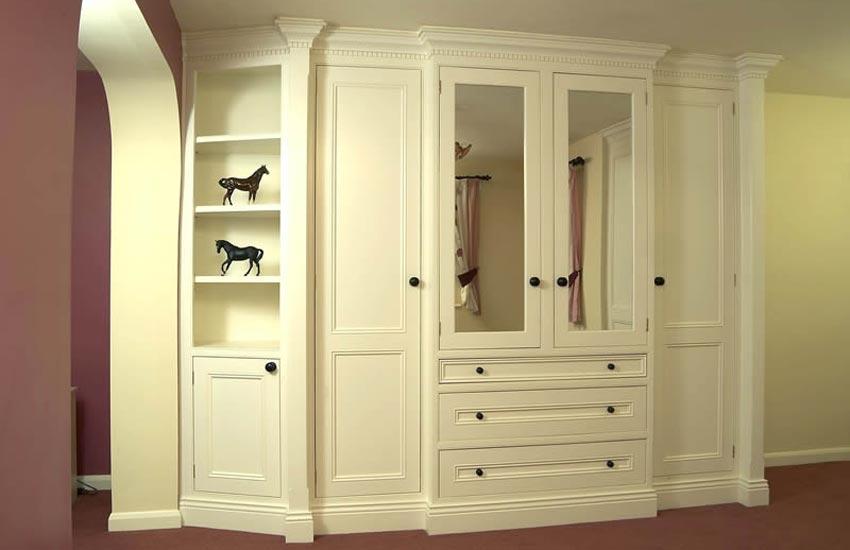 Bespoke white wood wardrobe