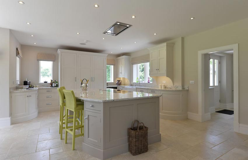 Bespoke kitchen with lime chairs