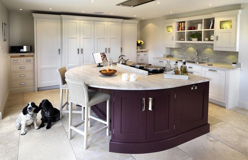 large kitchen with plum island