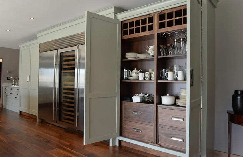 fitted kitchen with organisation features