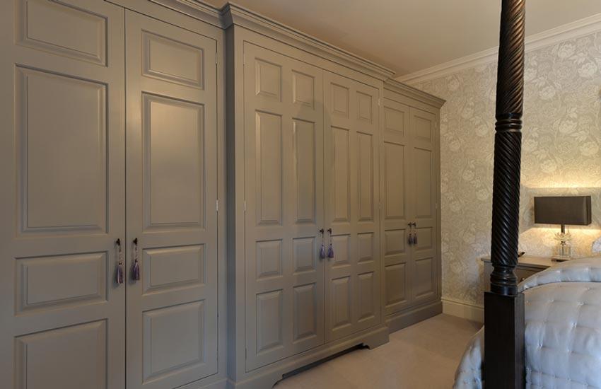 bespoke grey wood wardrobes