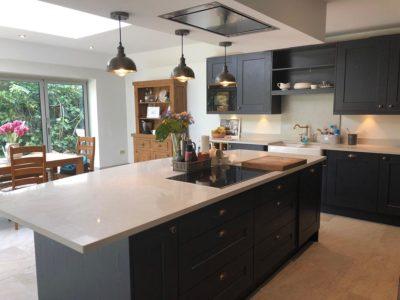 dark sleek modern kitchen