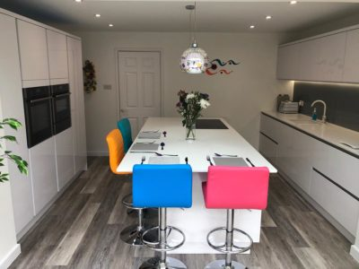 modern kitchen with colour accents